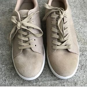 Anthropologie Shoes - J/SLIDES Tan Suede and Mesh Lace Up Sneakers
